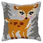 Latch hook cushion Deer