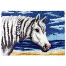 Latch hook kit Gray Horse