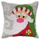 Latch hook cushion Santa Claus