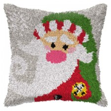 Latch hook cushion Santa Claus
