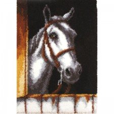 Latch hook kit white horse