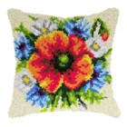 Latch hook cushion Wild Flowers