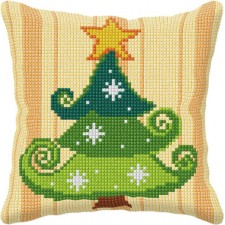 Cross stitch cushion kit Christmas Tree