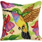 Cross stitch cushion kit Humming Bird