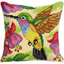 Cross stitch cushion kit Humming Bird