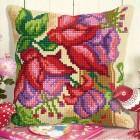 Cross stitch cushion kit Exotic flowers