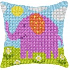 Cross stitch cushion kit Small Elephant