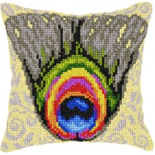 Cross stitch cushion kit Peacock