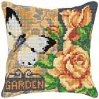 Cross stitch cushion kit Garden