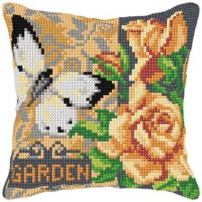 Cross stitch cushion kit Garden