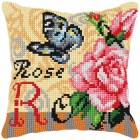 Cross stitch cushion kit Roses