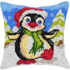 Cross stitch cushion kit Penguin