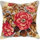 Cross stitch cushion kit Flowers