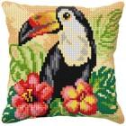 Cross stitch cushion kit Tucan