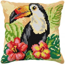 Cross stitch cushion kit Tucan