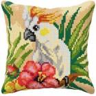 Cross stitch cushion kit Cockatoo