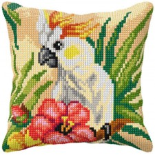 Cross stitch cushion kit Cockatoo