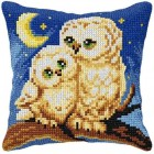 Cross stitch cushion kit Owls