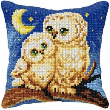 Cross stitch cushion kit Owls