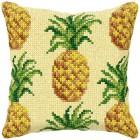 Cross stitch cushion kit Pineapples