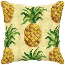 Cross stitch cushion kit Pineapples