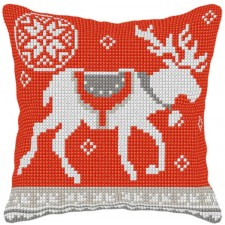 Cross stitch cushion kit Reindeer