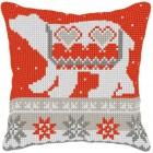 Cross stitch cushion kit Polar Bear