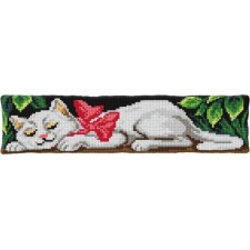 Cross stitch cushion kit Sleeping Cat