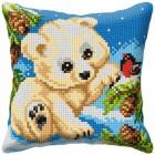 Cross stitch cushion kit White Bear