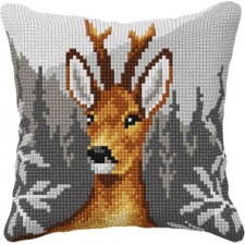 Cross stitch cushion kit deer