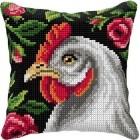 Cross stitch cushion kit Chicken