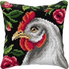 Cross stitch cushion kit Chicken