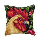 Cross stitch cushion kit Rooster