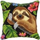 Cross stitch cushion kit Sloth