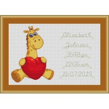 Baby's Heart Birth Tile