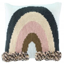 Cross stitch/Latch hook cushion Rainbow
