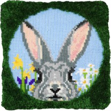 Cross stitch/Latch hook cushion Rabbit