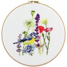 Cross Stitch Kit Blue Tit