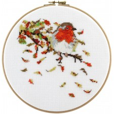 Cross Stitch Kit Robin