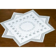 Hardanger tablecloth garland