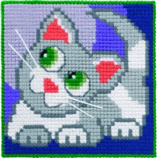 Childrens canvas kit Cat