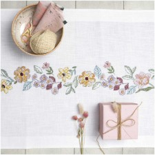 Tablerunner SUMMERFLOWER WREATH KIT