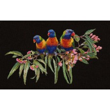 Cross Stitch Kit Lorrikeets