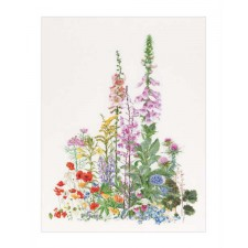 Cross Stitch Kit American Wild flowers