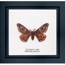 Cross Stitch Kit Emperor Moth