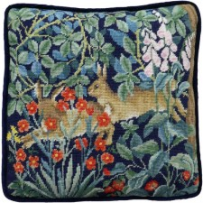 Petit Point stitch kit Henry Dearle - Greenery Hares Tapestry - Bothy Threads