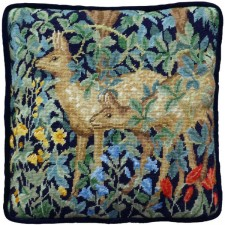 Petit Point stitch kit Henry Dearle - Greenery Deer Tapestry - Bothy Threads