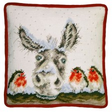 Petit Point stitch kit Hannah Dale - Christmas Donkey Tapestry - Bothy Threads