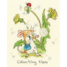 Cross stitch kit Anita Jeram - Collecting Kisses - Bothy Threads