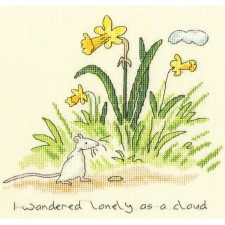 Cross stitch kit Anita Jeram - Lonely as a Cloud - Bothy Threads